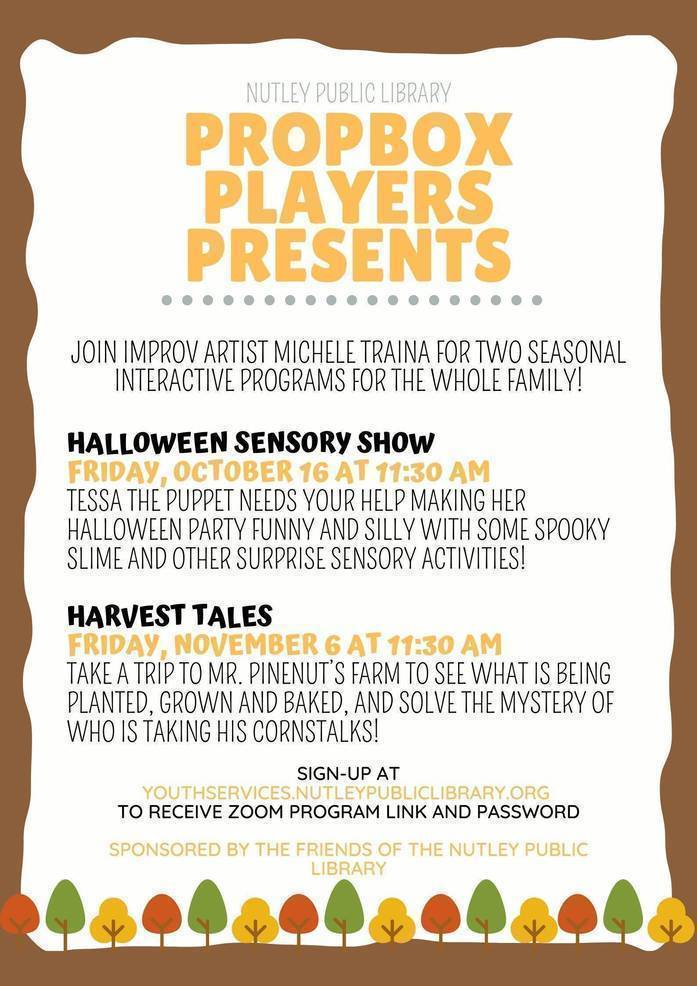 When Will Halloween 2020 Be On Demand Friday Nutley's Prop Box Players present a Halloween Sensory Show Friday