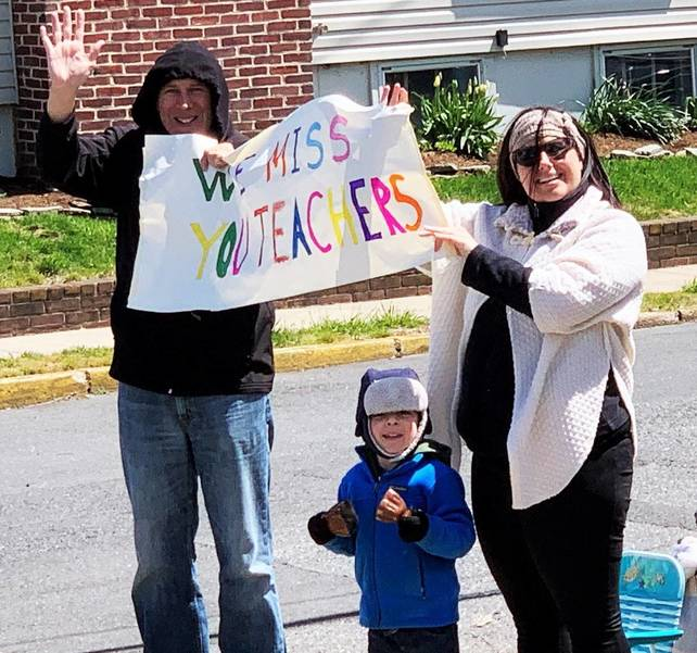 Belmar Elementary Pre-K Teachers Go on Parade to Boost Spirits During Home Instruction
