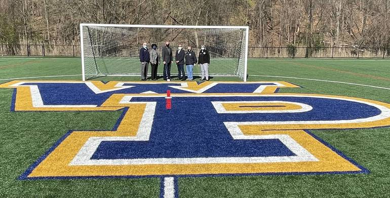Woodland Park Officials Recognize Berkeley College for Donation of Soccer Goals