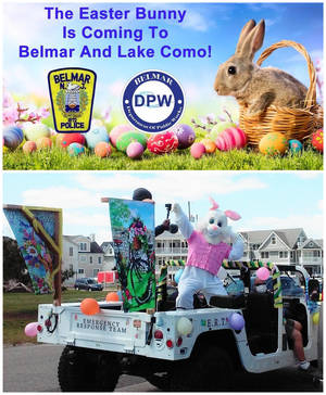 Easter Bunny to 'Hop' Ride through Belmar and Lake Como  with Treats for Kids on March 27