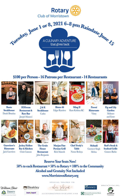 Morristown Rotary Club Introduces Culinary Adventure Charity Event