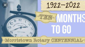 Morristown Rotary Club Celebrates Centennial with Pavilion Donation at Town Hall