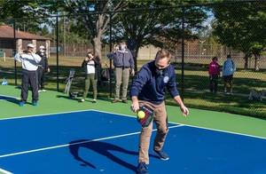 Pickleball Professionals Holding Court for State Championship at Veterans Park