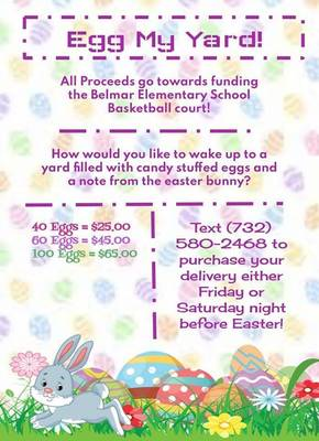 Get 'Egged' for Easter to Support Belmar Elementary School's Outdoor Basketball Fundraising Effort