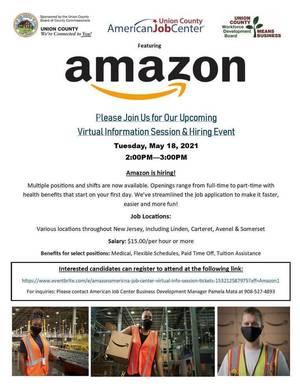 Job Opportunity: Linden Residents Invited to Amazon Virtual Hiring Event