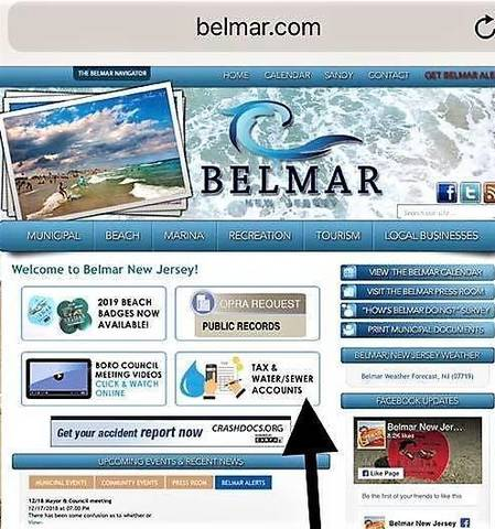 Belmar Launches Online Payment of Tax and Water/Sewer Bills