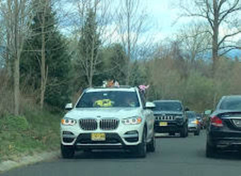 Birthday parade during COVID-19 lockdown