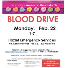Blood Donations Needed: COVID-19 antibody testing available at Hazlet blood drive.