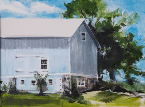 Top story 6c43b579b2ddb23de164 blue barn  king st.  acrylic on canvas  by allene stanton fay