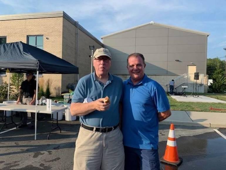 BOE member Doug Chapman with BOE Candidate Bill Seesselberg.jpg