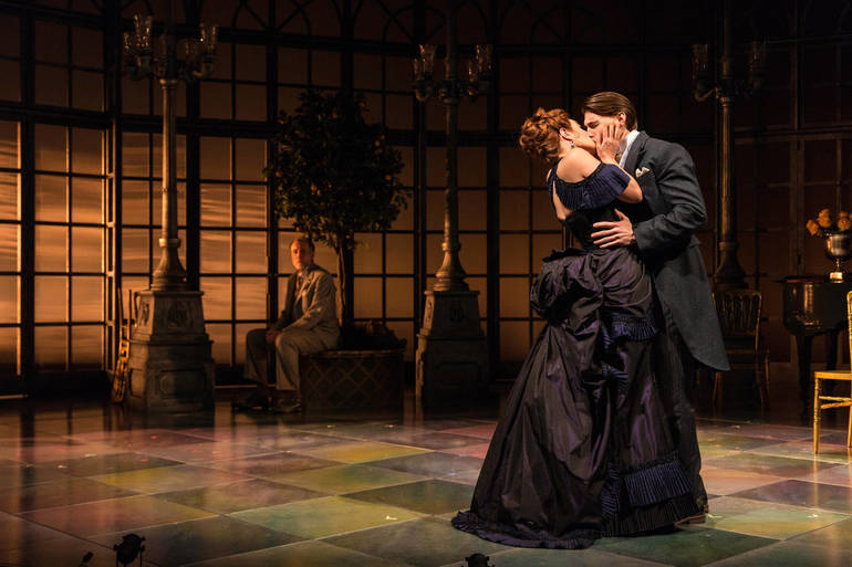 Boyd Gaines, Sierra Boggess, and Andrew Veenstra. Photo by T. Charles Er....jpg