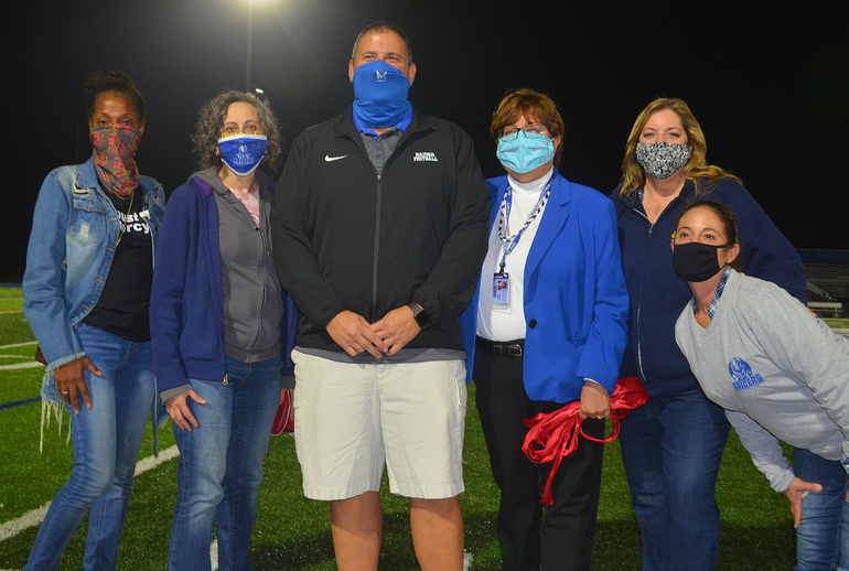 BOE members at Scotch Plains-Fanwood's first Friday Night Lights game.