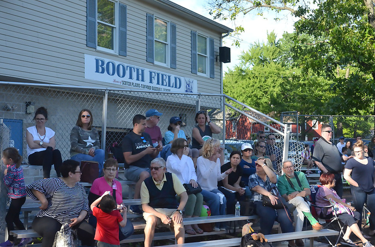 Booth Field bleachers at the SPFBL AAA Division All-Star Game at Booth Field in Scotch Plains