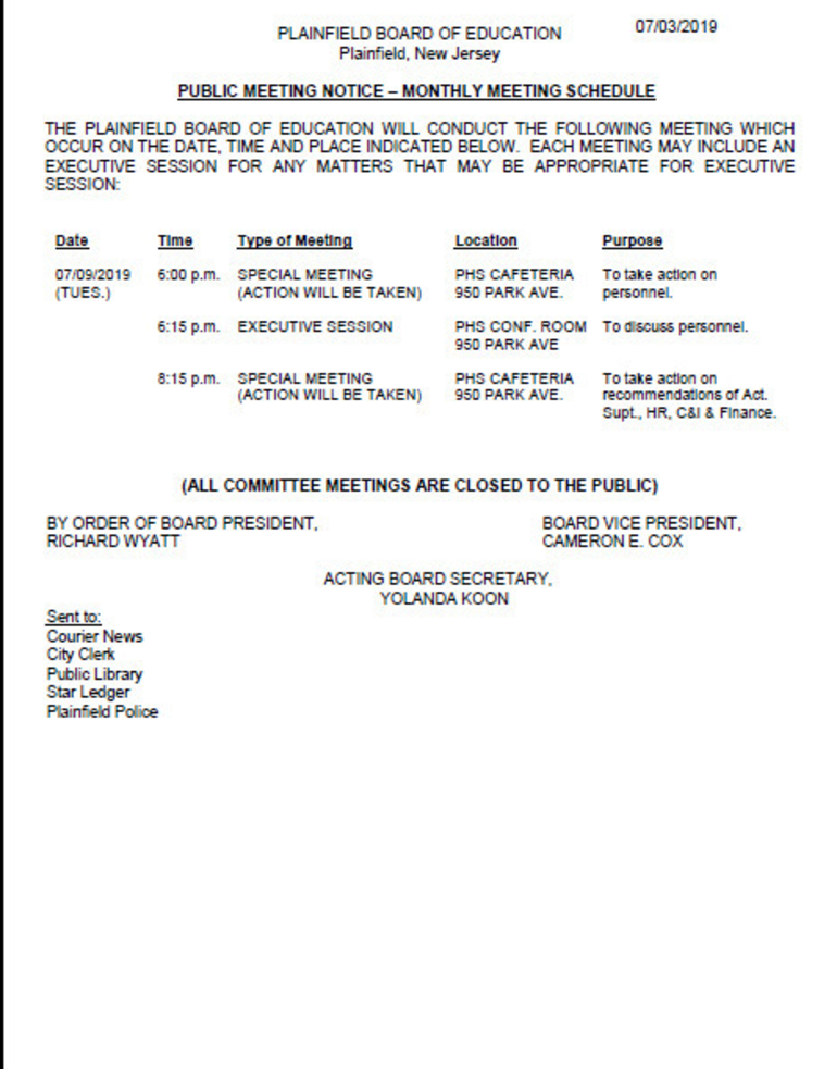 BOE July 9 Meeting Notice.png