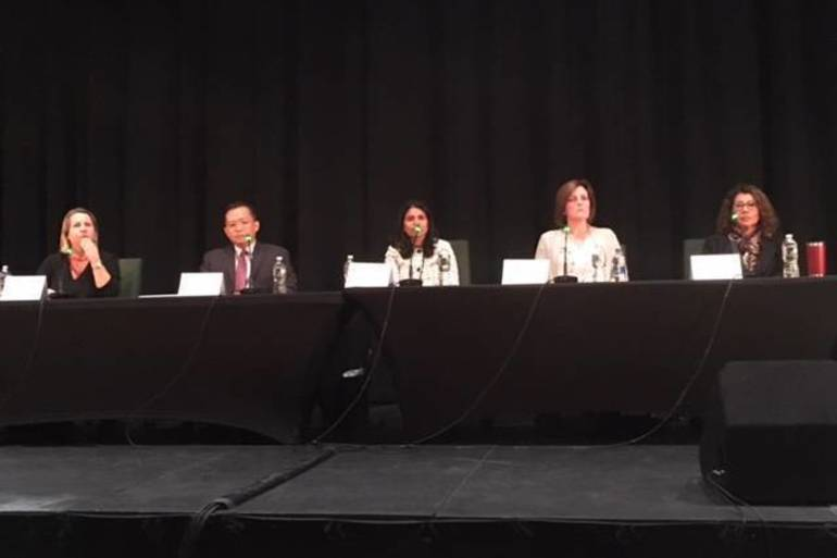 School board candidates at a forum in October