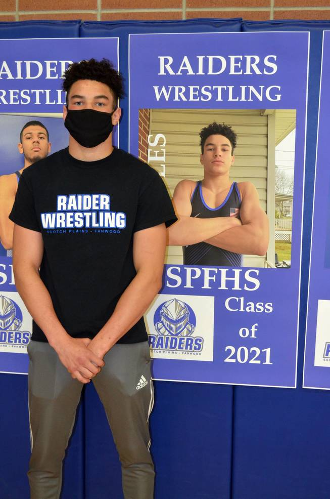 Scotch Plains-Fanwood senior wrestler Brandon Bowles