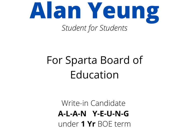 Alan Yeung BOE Write-In Campaign 2020