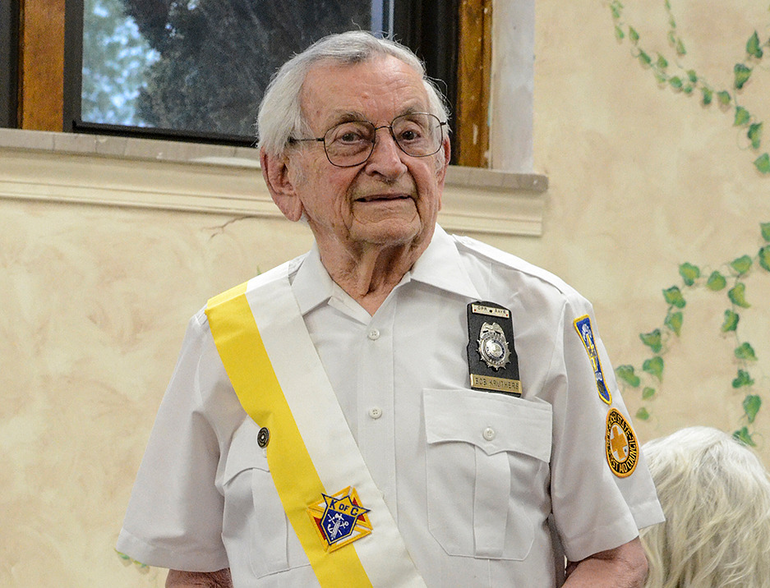 Fanwood's Bob Kruthers served on the local rescue squad for more than six decades. He was honored by the Knights of Columbus in 2017.