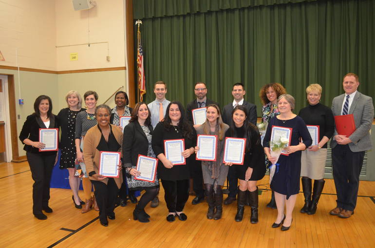"""Scotch Plains-Fanwood School K-12 District's """"Teachers of the Year"""" for 2019-2020."""