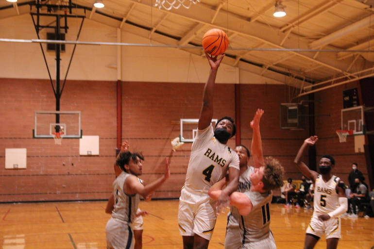 Saleem Ibraheem is averaging double figures in points and rebounds to lead the Rams this season.
