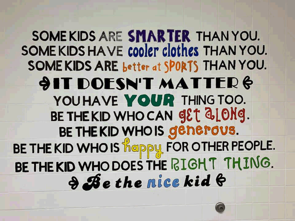 Boys 3rd and 4th Grade large wall quote