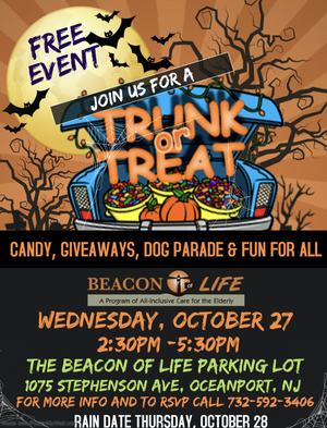 Halloween Fun is Free at Beacon of Life. Wednesday, Oct. 27, Trunk or Treat, a Dog Parade and More.