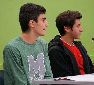 Top story 6c53c44bc1f26af458df board of ed student liaisons malik amer and mason hohil in nov. 2018