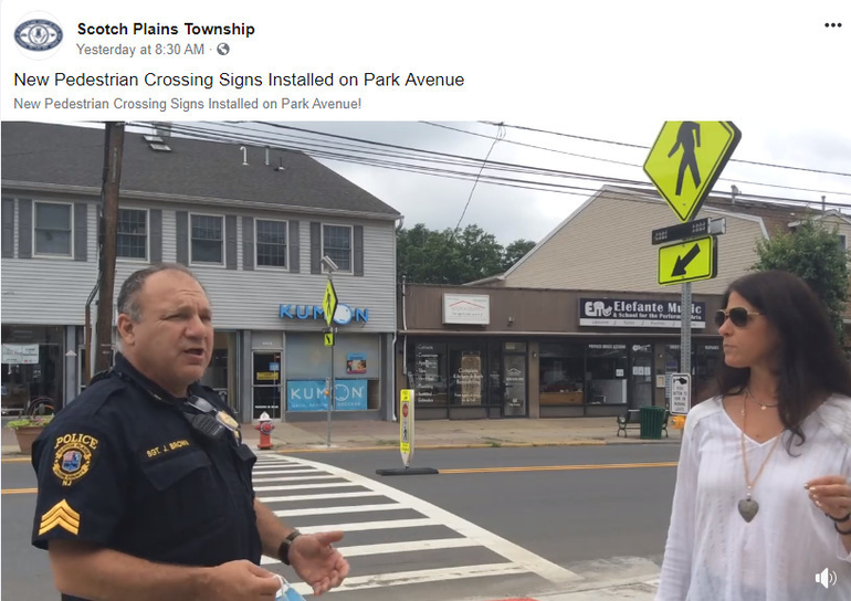 Scotch Plains Police Sgt. Gerry Brown and Deputy Township Manager Margaret Heisey