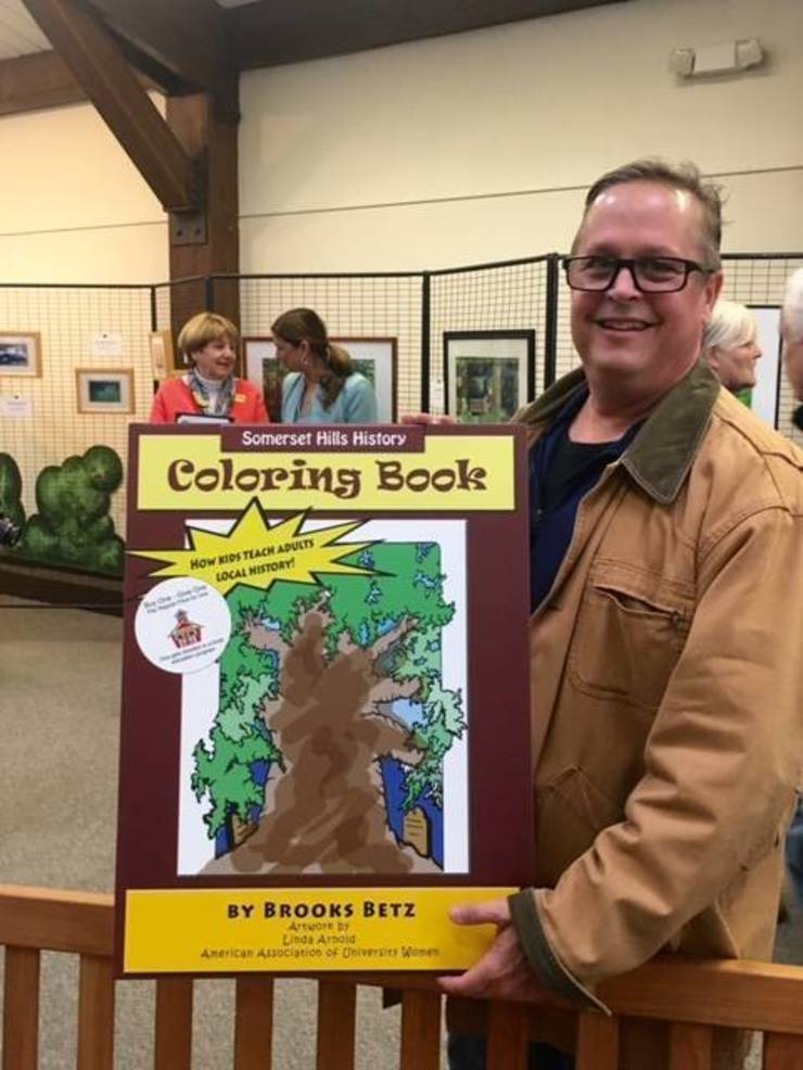 Brooks Betz and Somerset Hills History coloring book