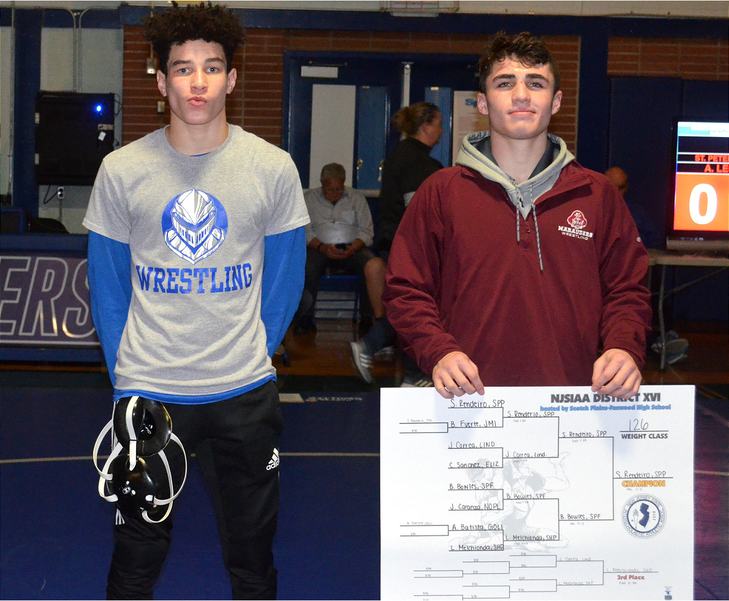 Brandon Bowles finished second to Sean Rendeiro of St. Peter's Prep in the District 4 Tournament held at Scotch Plains-Fanwood High School.png