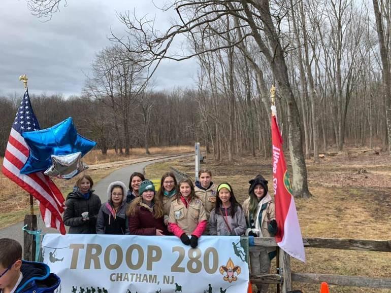 BSA Troop 280 before the First Day Walk 1.1.20.jpg