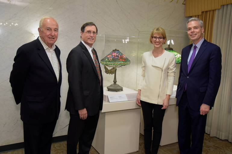 The Neustadt Collection Launches Hospital Arts Program at Burke Rehabilitation Hospital with Tiffany Lamp Exhibit