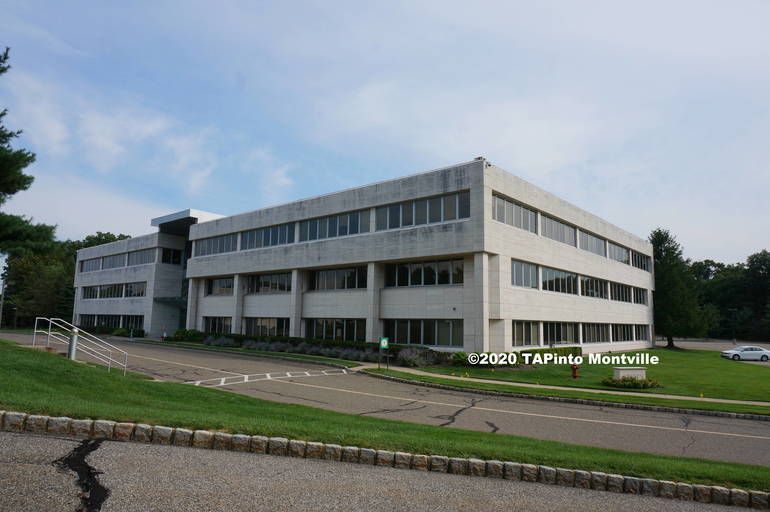 Building 200 of the former Bayer complex - Fujitsu application ©2020 TAPinto Montville.JPG