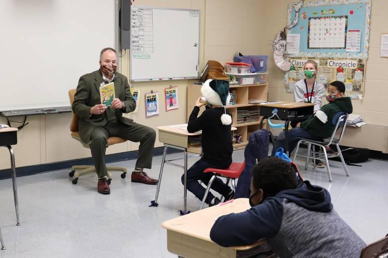 BurlCO Special School read across america.JPG