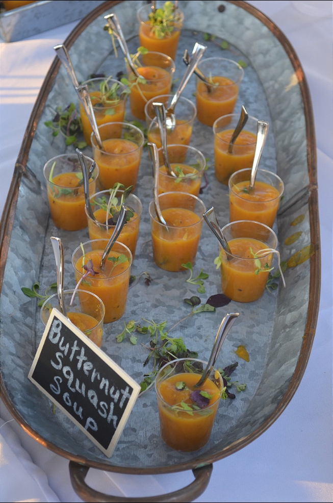 """Fanwood Grille's butternut squash soup served at the Scotch Plains Market's """"From Farm to Table"""" fundraiser."""