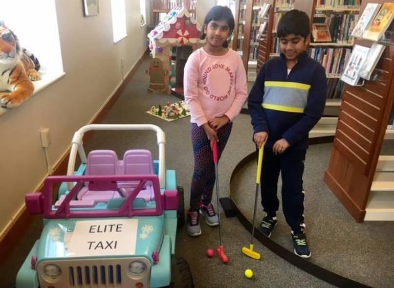 Finally finishing the Elite Taxi mini-golf hole