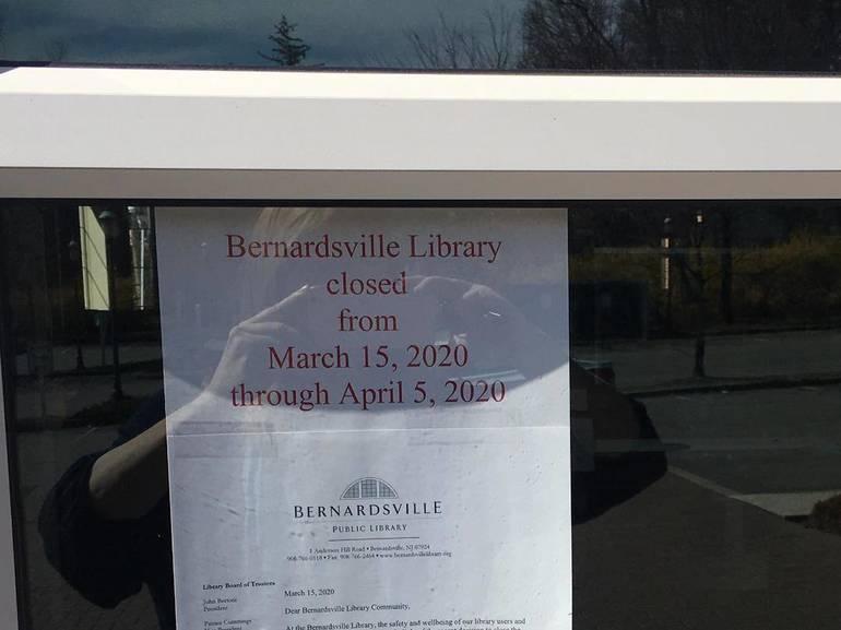 Bernardsville Library closed