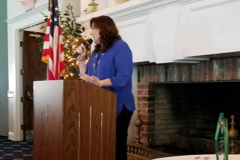 Inductee Mayor Christine Hunschofsky