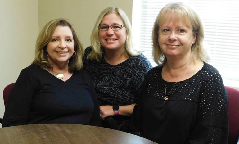 joining the staff at WHRHS for the start of the 2019-2020 School Year are: From left, Interim Director of Guidance Julie Patterson; Administrative Assistant to the Principal Laurie Grafer; and Student Data Systems Manager Chris Beckert.  C1CE2162-EB3D-4679-810B-D8BD061C1D74.jpeg