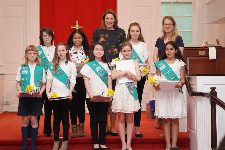 Holy Trinity School Girl Scouts NJ