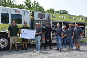 Bedminster Gives $3K to Far Hills-Bedminster Fire Department for Support of Farmers Market
