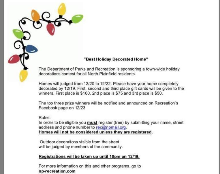 Best North Plainfield Holiday Decorated Home Contest Deadline Soon