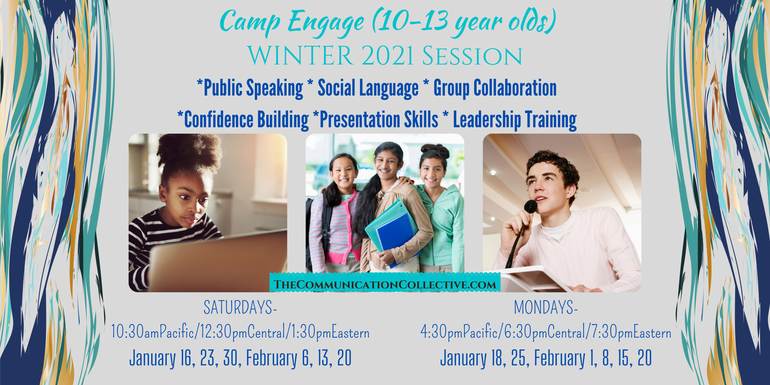 Online Public Speaking & Communication Enrichment Camp for Kids Ages 6-13