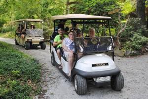 Cart Tours for Seniors At Laurelwood Arboretum