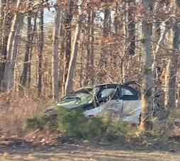 One-Car Crash  Lands Vehicle in Woods Just South of Barnegat Parkway Exit