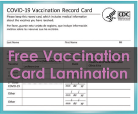 Parsippany Staples Offers Free Vaccination Card Lamination