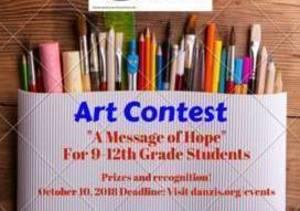 Carousel image c3755dfb94207bda6cae carousel image e2da637f5cbd727b51d0 jo ann danzis foundationart contest   a message of hope 9 12th grade students  2