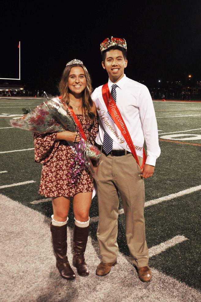Homecoming King and Queen Jason Lam and Many Petrillo
