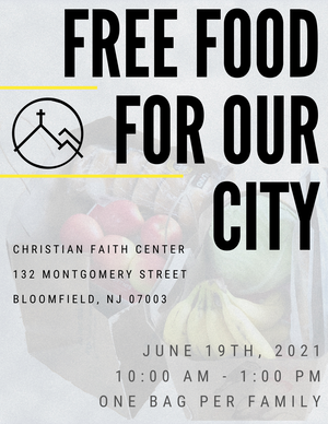 Bloomfield Church to Hold Food Giveaway This Saturday