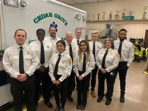 Cedar Grove Ambulance and Rescue Squad Gives Presentation to Town Council